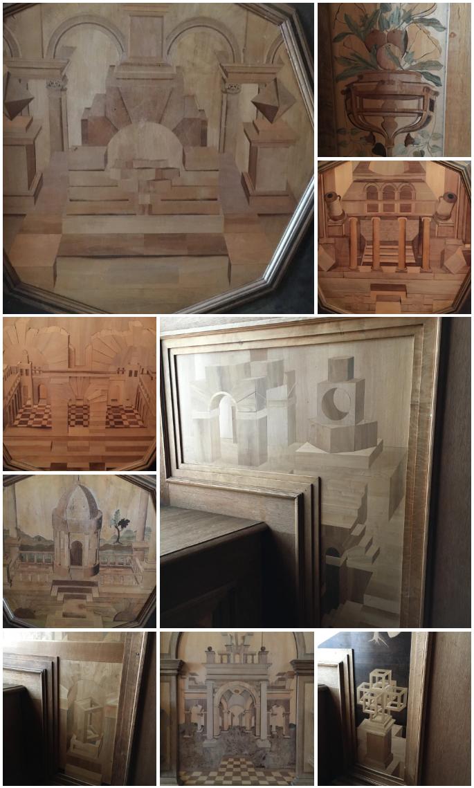 Kalmar slott - Detalles de madera